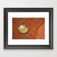 Gold Shell Framed Art Print