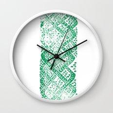 Knitwork I Wall Clock