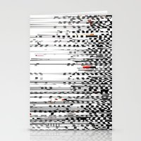Black and White Noise Stationery Cards