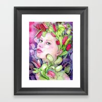 Under The Gaze Of Venus Framed Art Print