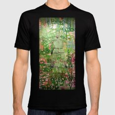 Meditation Mens Fitted Tee SMALL Black