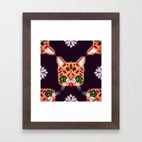 Lil Bub Geometric Patter… Framed Art Print