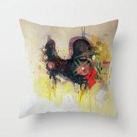Methy Megadrive Badgirl Throw Pillow