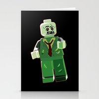 zombie Stationery Cards featuring Zombie by Emma Harckham