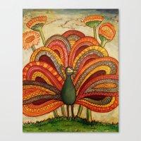 The Peacock Canvas Print