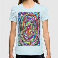 Circle of Love Womens Fitted Tee Light Blue SMALL