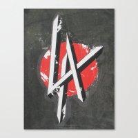 Art On The Run: Heavy Metal LA sticker, Hollywood, CA Canvas Print