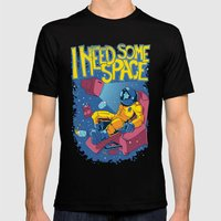 I need some space Mens Fitted Tee Black SMALL