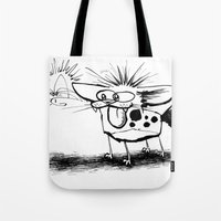 Hyena And The Spider Whi… Tote Bag