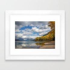 Glacier Lake Framed Art Print
