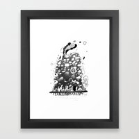 Organic Hat Framed Art Print