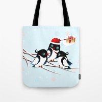 Winter Birds Christmas Wish Tote Bag