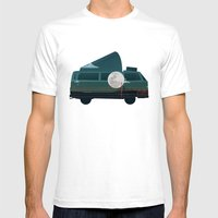 VW Camper Mens Fitted Tee White SMALL