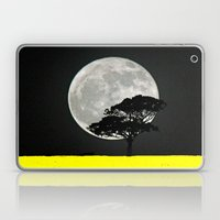 Lone Tree And Moon. Laptop & iPad Skin