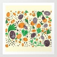 Citrus Universe Art Print