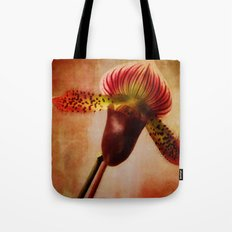 Ruby Lady Slipper Orchid Tote Bag