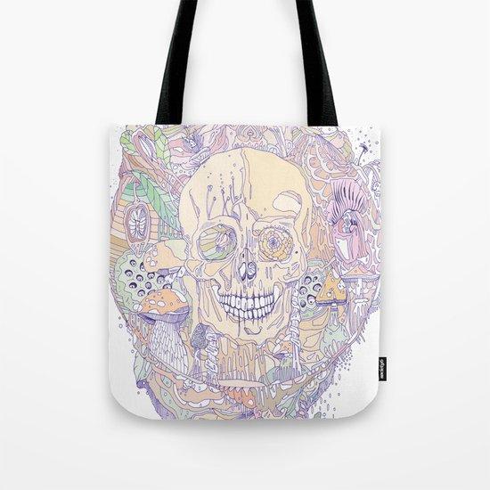 floral binomial & bone Tote Bag