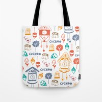 Cuckoo Pattern Tote Bag