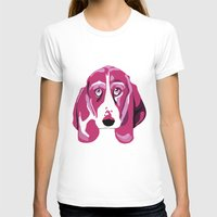 Hound Dog Womens Fitted Tee White SMALL