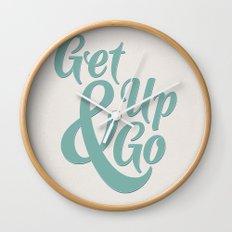 Get Up & Go Wall Clock