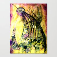 Sculpting The Earth  Canvas Print
