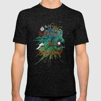 Follow Me To Neverland Mens Fitted Tee Tri-Black SMALL