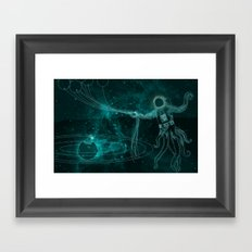 A Birthday Spacetacle! Framed Art Print