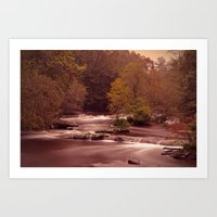 Blackberry Falls Waterscape Art Print