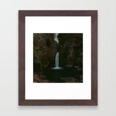 Wahclella Falls x Oregon Waterfall Framed Art Print