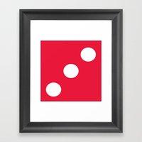 Red Dice 3 Framed Art Print