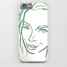 Green Portrait iPhone 6 Slim Case