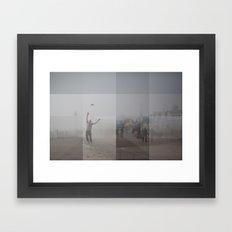 Ocean City, NJ Collage Framed Art Print