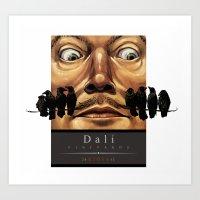Dali Vineyards Wine Label Art Print