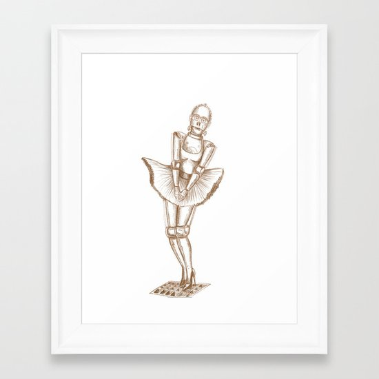 C3PO Monroe Framed Art Print