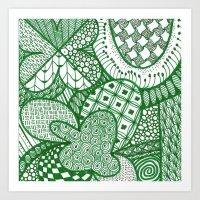 Pure Luck Pattern Art Print