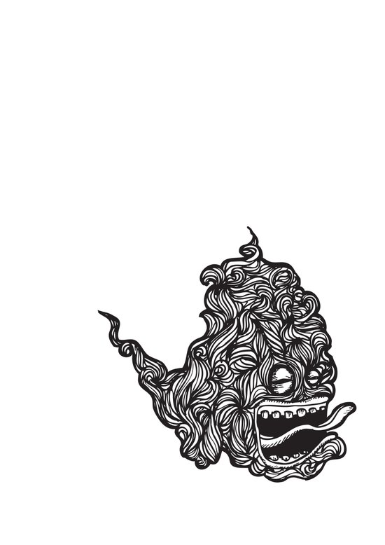 Hairy Smoke Bastard #1 Art Print