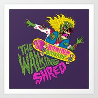 The Walking Shred Art Print
