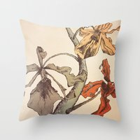 Hello Orchids Throw Pillow