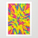 Bubble Gum Explosion Art Print