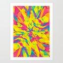Bubble Gum Explosion Art Print