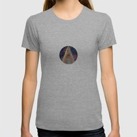 Center of Attention Womens Fitted Tee Athletic Grey SMALL