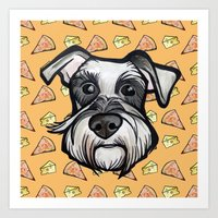 Peter Loves Pizza And Ch… Art Print