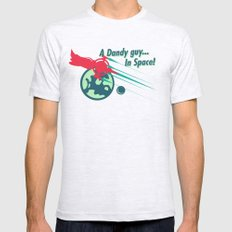 A Dandy guy... In Space! Mens Fitted Tee Ash Grey SMALL