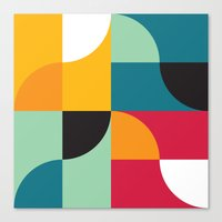 Squares & Curves Canvas Print