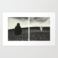 Ghost Diptych Art Print