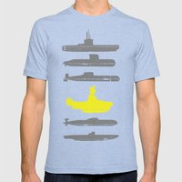 Know Your Submarines Mens Fitted Tee Tri-Blue SMALL