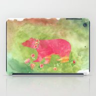 Baer  With Flowers I iPad Case