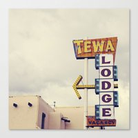 Tewa Lodge Canvas Print