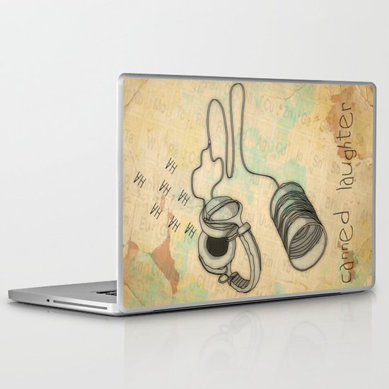 canned laughter _ head phones Laptop & iPad Skin