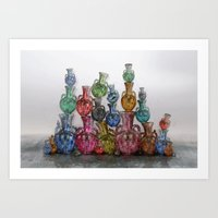 Villa Vase Art Print